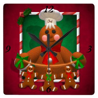 Gingerbread Family: Funny Baker Clocks