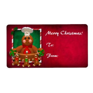 Gingerbread Family: Funny Baker Label