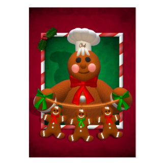 Gingerbread Family: Funny Baker Large Business Card