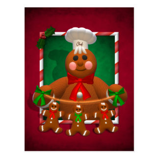 Gingerbread Family: Funny Baker Postcard