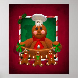 Gingerbread Family: Funny Baker Print