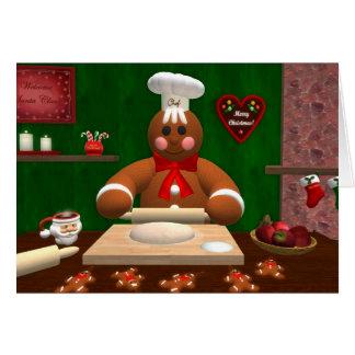 Gingerbread Family: Little Baker Card