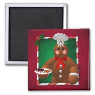 Gingerbread Family: Little Baker Fridge Magnet