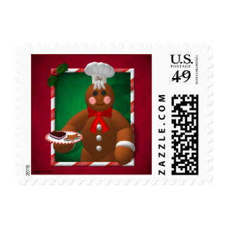 Gingerbread Family: Little Baker Postage Stamp