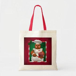 Gingerbread Family: Little Bakery Girl Tote Bag
