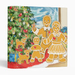 Gingerbread Family With Their Christmas Tree Binders
