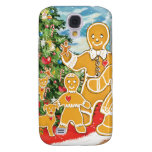 Gingerbread Family With Their Christmas Tree Samsung Galaxy S4 Case