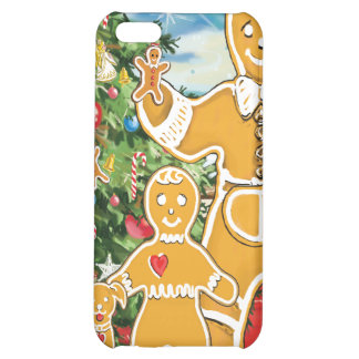 Gingerbread Family With Their Christmas Tree Cover For iPhone 5C
