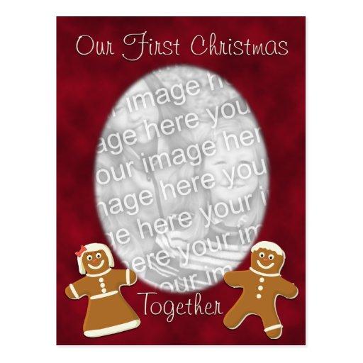 Gingerbread First Christmas Template Postcard