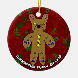 Gingerbread French Bulldog Christmas Ornament