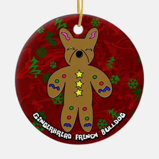 Gingerbread French Bulldog Christmas Ornament