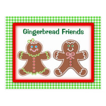 Gingerbread Friends Postcard