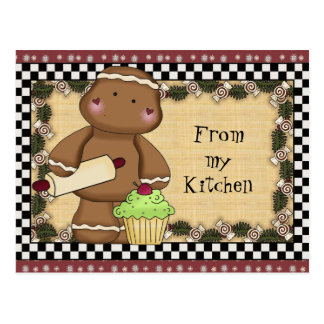 Gingerbread from my Kitchen postcard