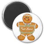 Gingerbread Fun 2 Inch Round Magnet