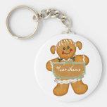 Gingerbread Fun Basic Round Button Keychain