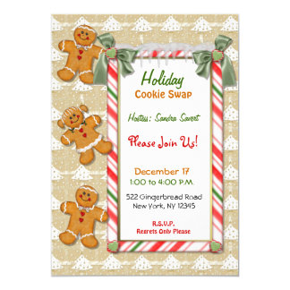 Gingerbread Fun Cookie Exchange Invitation