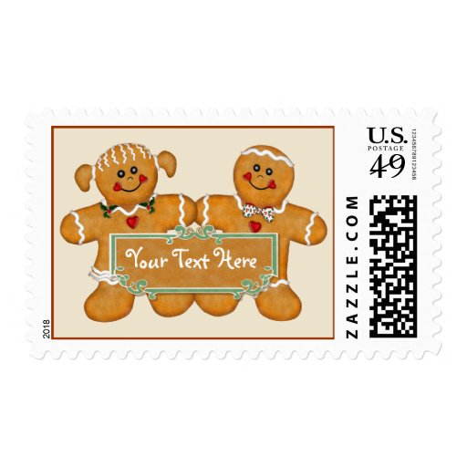 Gingerbread Fun - Customize Postage