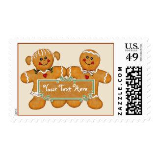 Gingerbread Fun - Customize Postage Stamp