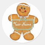Gingerbread Fun Round Sticker