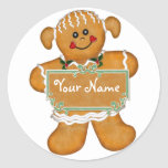 Gingerbread Fun Round Stickers