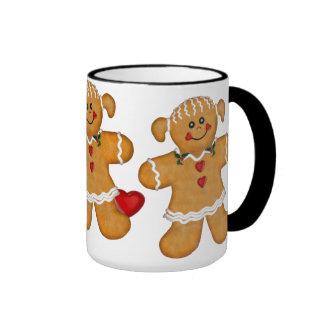Gingerbread Fun - Woman Ringer Coffee Mug