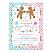 Gingerbread Gender Reveal Invitations