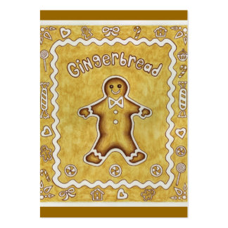 Gingerbread Gift Tag Large Business Cards (Pack Of 100)