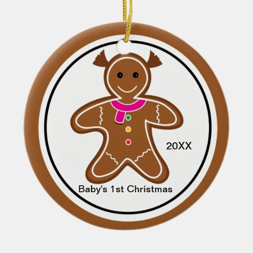 Gingerbread Girl 1st Christmas Ornament