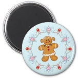 Gingerbread Girl 2 Inch Round Magnet