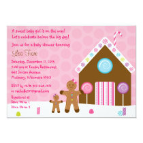 Gingerbread Girl Baby Shower Invitations