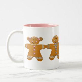 Gingerbread Girl & Boy Mug