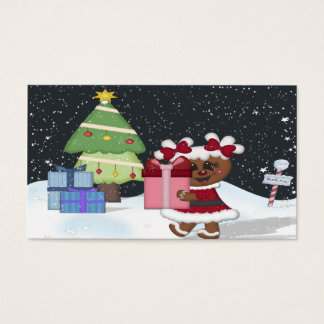 Gingerbread Girl Business Card