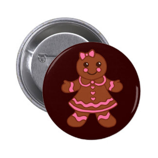 Gingerbread Girl Button