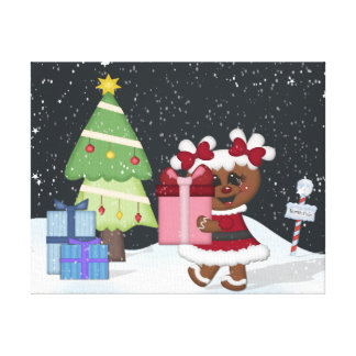 Gingerbread Girl Canvas Print