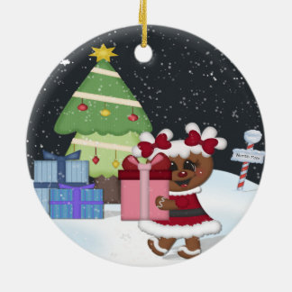 Gingerbread Girl Ceramic Ornament