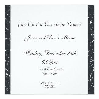 Gingerbread Girl, Christmas Tree, North Pole Sign Custom Invitation