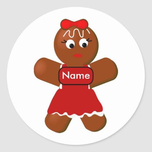 Gingerbread Girl Cookie Sticker