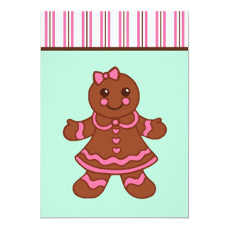 Gingerbread Girl Invitations