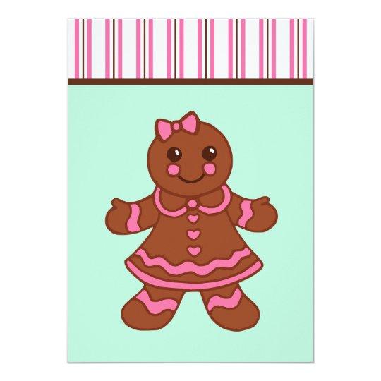 Gingerbread Girl Invitations