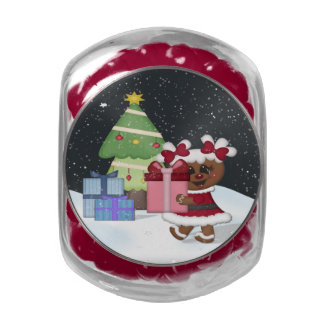 Gingerbread Girl Jelly Belly Candy Jar