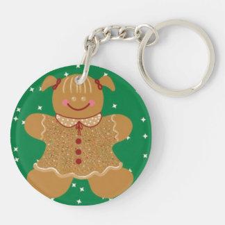 Gingerbread Girl.jpg Keychain