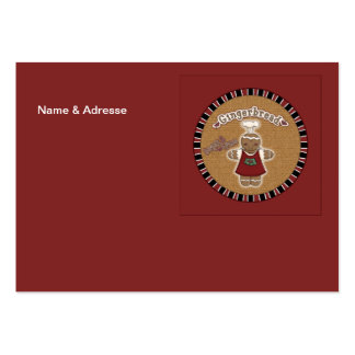 Gingerbread Girl Large Business Card