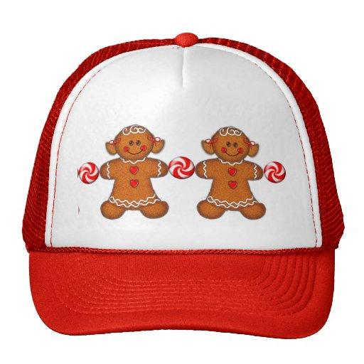GINGERBREAD GIRL & PINWHELLS by SHARON SHARPE Mesh Hats