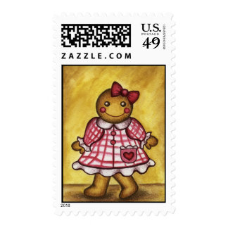 Gingerbread Girl Postage
