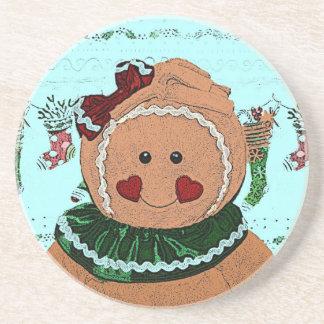 Gingerbread Girl Sketch Beverage Coasters