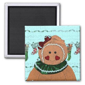 Gingerbread Girl Sketch Magnet