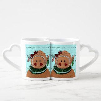 Gingerbread Girl Sketch Lovers Mug Sets