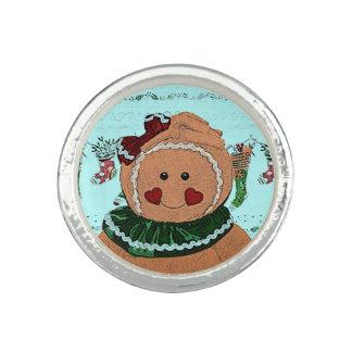 Gingerbread Girl Sketch Photo Rings