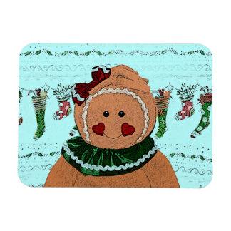 Gingerbread Girl Sketch Magnets