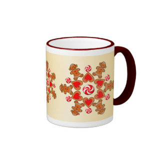 GINGERBREAD GIRL STAR COOKIE by SHARON SHARPE Mug
